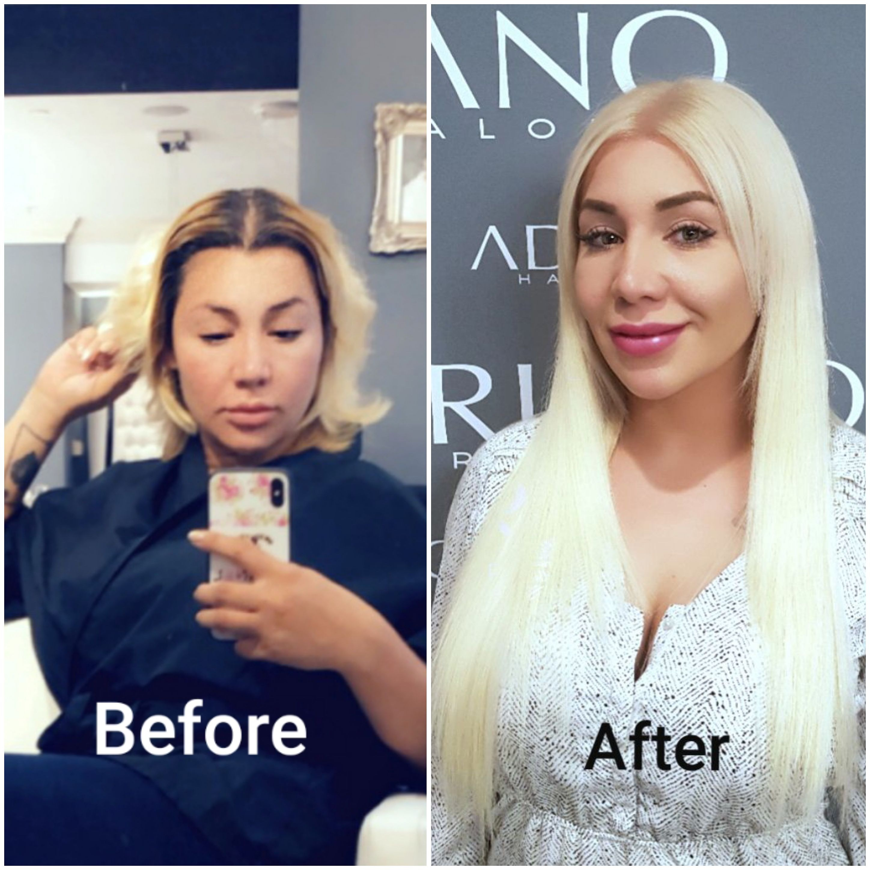 Color correction and hair extensions